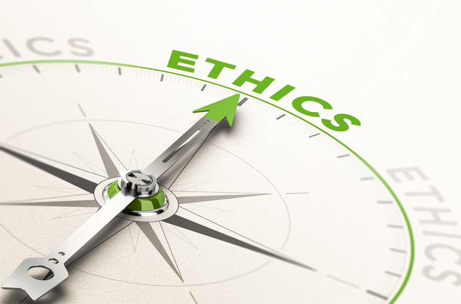 Ethics compass graphic