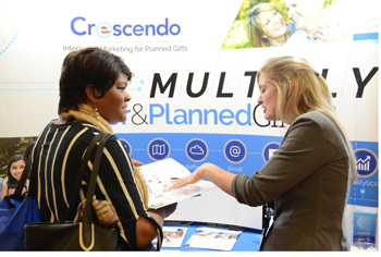 Crescendo booth at a conference